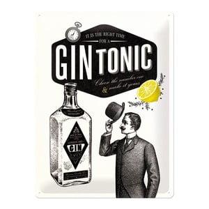 Plechová ceduľa Gin Tonic, 30x40 cm