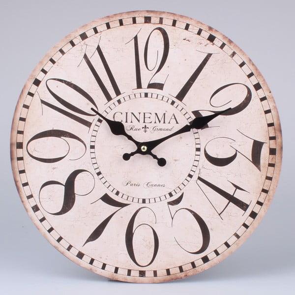 Drevené hodiny Paris Cinema, 34 cm