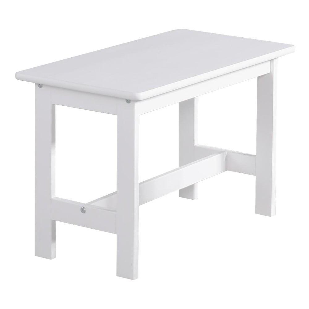 Biely detský stolček z masívneho borovicového dreva Pinio Baby