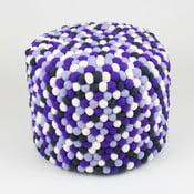Ručne vyrobený guličkový puf Lavender Field, guľatý
