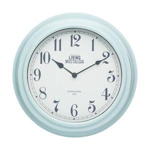 Nástenné hodiny Kitchen Craft Living Nostalgia Blue, 25,5 cm