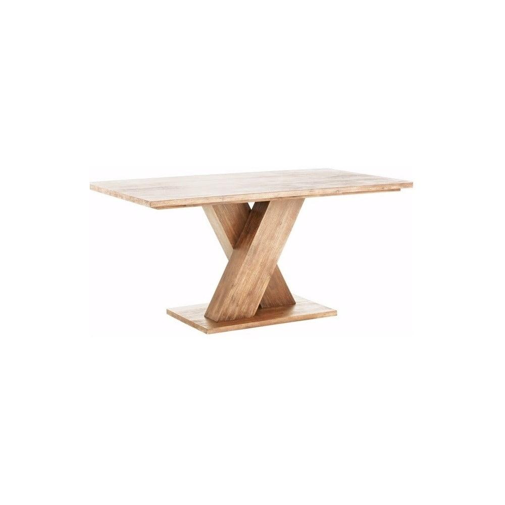 Hnedý jedálenský stôl z masívneho akáciového dreva Støraa Khan, 90 × 160 cm