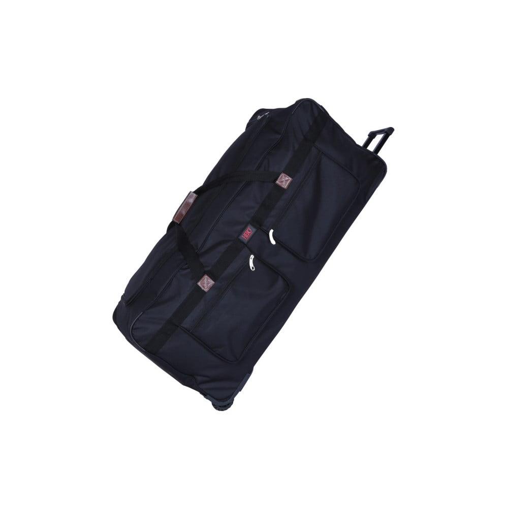 Čierna cestovná taška na kolieskach Hero Morvan