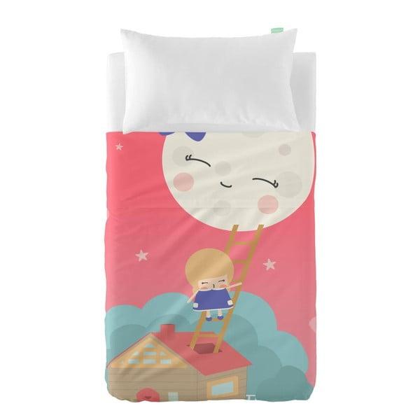Set plachty a obliečky na vankúš z čistej bavlny Happynois Moon Dream, 100×130 cm