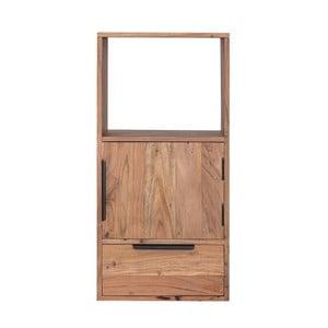 Nástenná skrinka s dvierkami a zásuvkou z akáciového dreva Woodking Darley