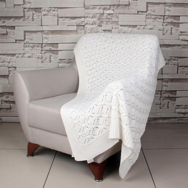 Krémová bavlnená deka Ciana
