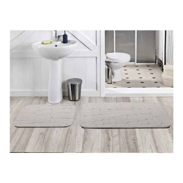 Sada 2 kúpeľňových koberčekov Dekoreko Beyaz, 50x60 cm + 60x100 cm