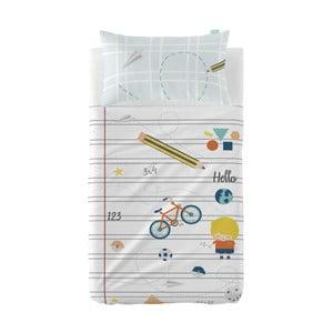 Set plachty a obliečky na vankúš z čistej bavlny Happynois Notebook, 120×180 cm