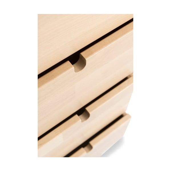 Ručne vyrobená komoda z masívneho brezového dreva Kiteen Notte, 75 × 120 cm