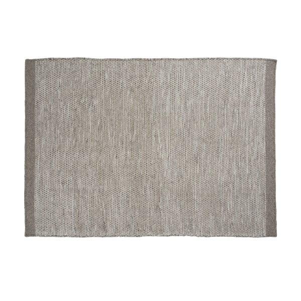 Vlnený koberec Asko, 140x200 cm, svetlosivý