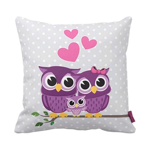 Vankúš Owl Family, 43x43 cm