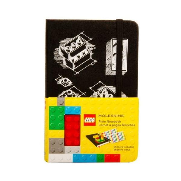 Zápisník Moleskine Lego Black, čistý