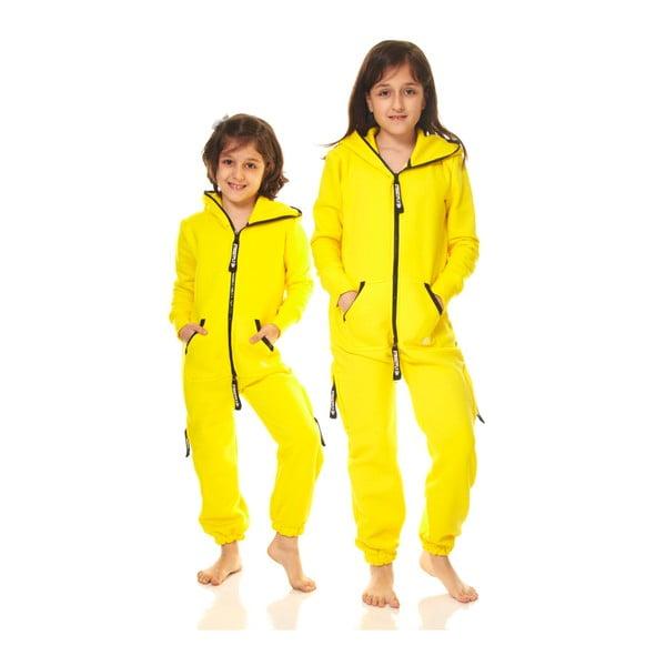 Žltý detský domáci overal Streetfly, pre deti 8-9 rokov