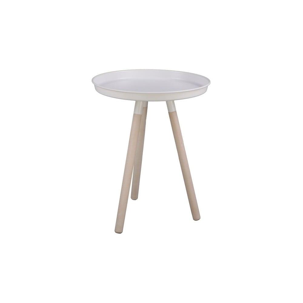 Biely odkladací stolík Nørdifra Sticks, výška 52,5 cm