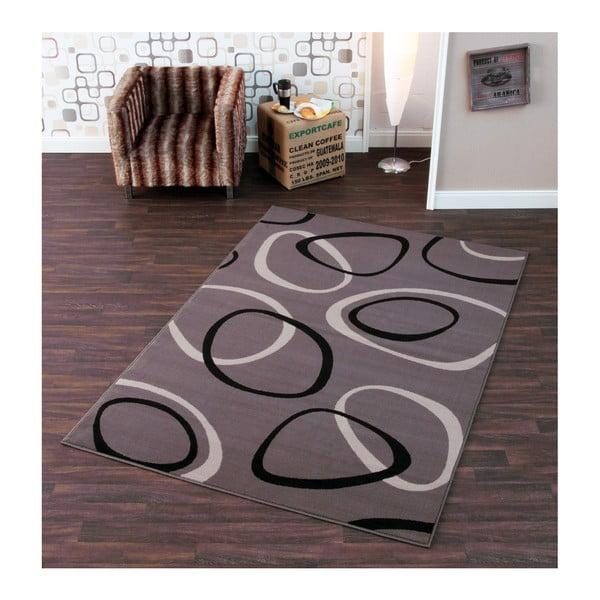 Sivý koberec Hanse Home Prime Pile Rings Grey, 80x300cm