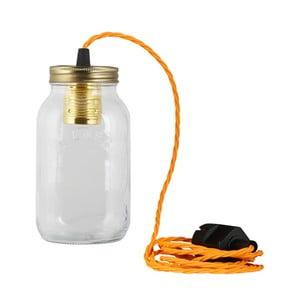 Svietidlo JamJar Lights, žiarivo oranžový zakrútený kábel