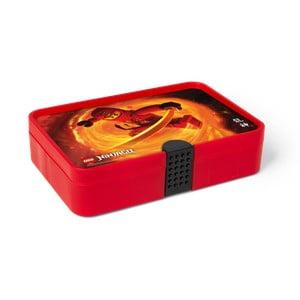 Červený úložný box s priehradkami LEGO® Ninjago