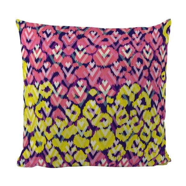 Vankúš Yellow Pink, 50x50 cm
