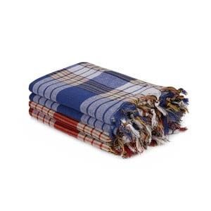Sada 4 farebných uterákov, 180 x 80 cm