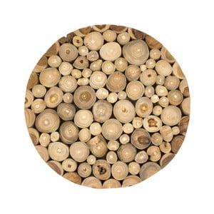 Nástenný obraz z teakového dreva Moycor Spheres, ⌀ 40 cm