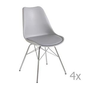 Sada 4 sivých jedálenských  stoličiek Støraa Jenny