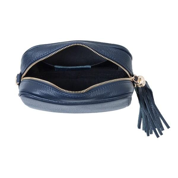 Tmavomodrá kabelka z pravej kože Andrea Cardone Pezzo