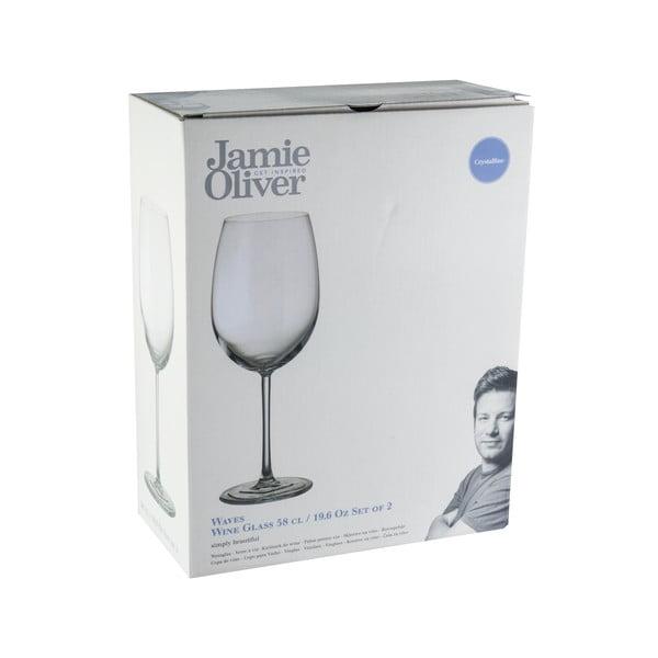 Sada 2 pohárov na víno Jamie Oliver Waves, 580 ml