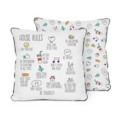Vankúš Pillow House Rules, 45x45 cm
