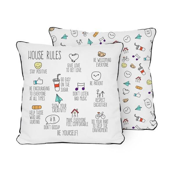 Vankúš Pillow House Rules, 45x45cm