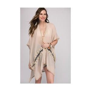 Béžová dámska tunika z čistej bavlny NW Mykonos