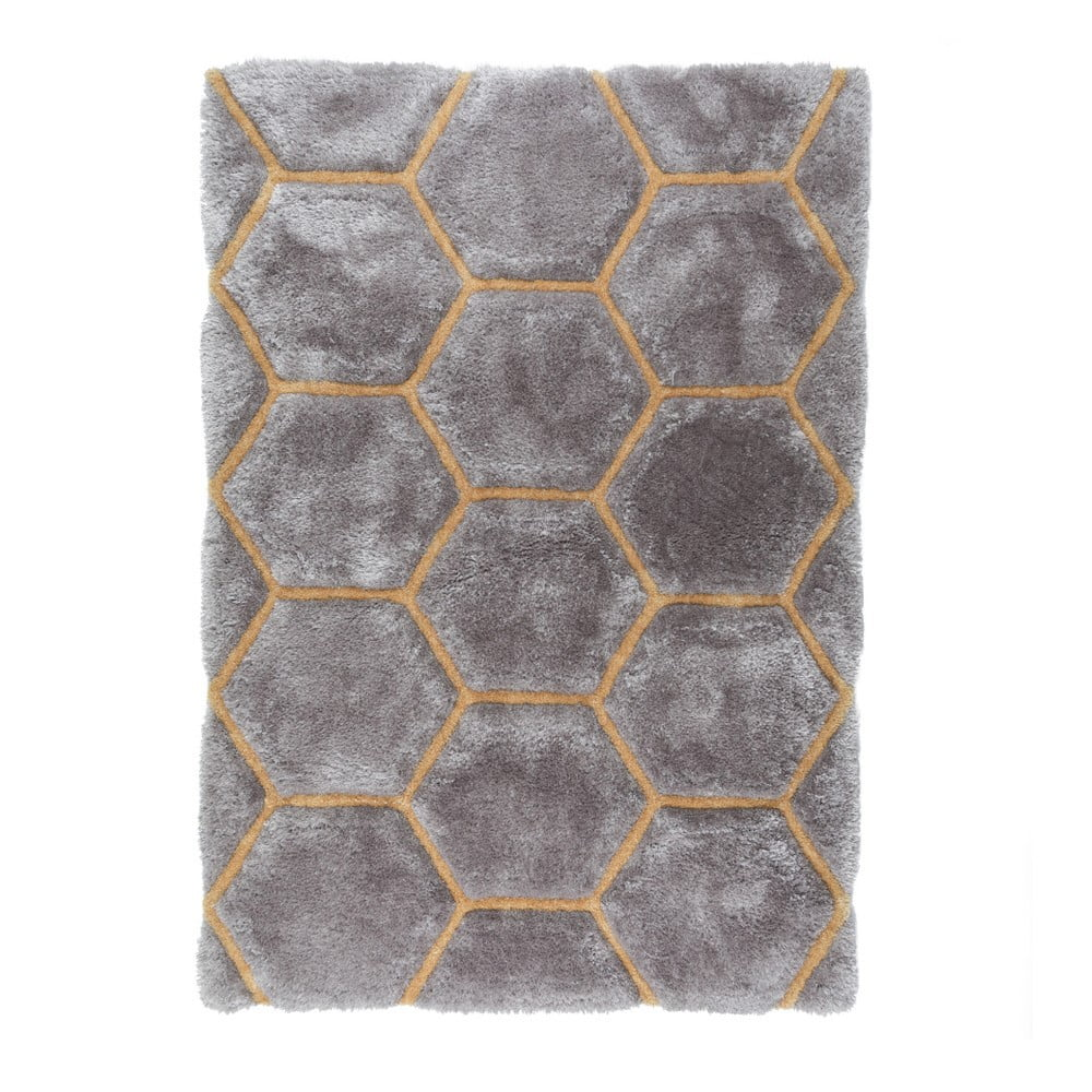 Sivý koberec Flair Rugs Honeycomb, 120 × 170 cm
