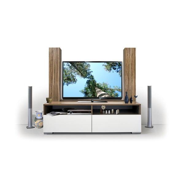 Televízna zostava Deco, biela/samba