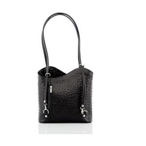 Čierna kožená kabelka Glorious Black Patty