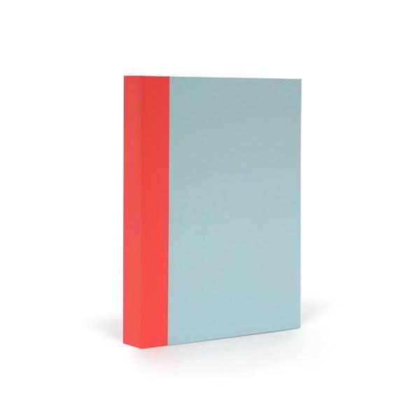 Zápisník FANTASTICPAPER A6 Skyblue/Warm Red, riadkovaný