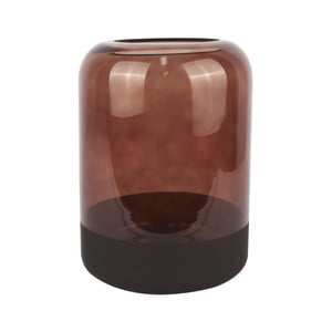 Hnedá sklenená váza PT LIVING Majestic, výška 22 cm