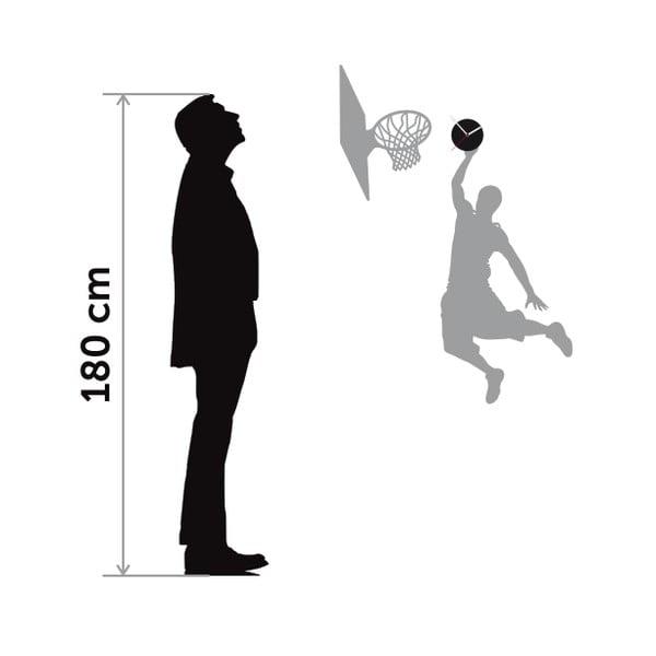 Hodiny so samolepkou Basketball