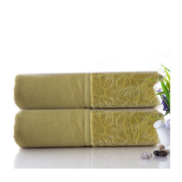 Sada 2 uterákov Samba Green, 50x90 cm