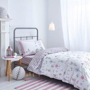 Sivo-ružové obliečky Bianca Nordic Cotton, 135 x 200 cm