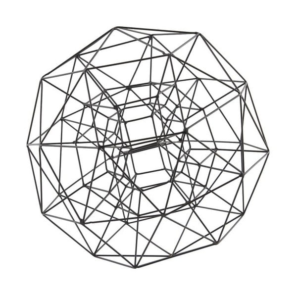 Dekorácia Globe Black, 29 cm