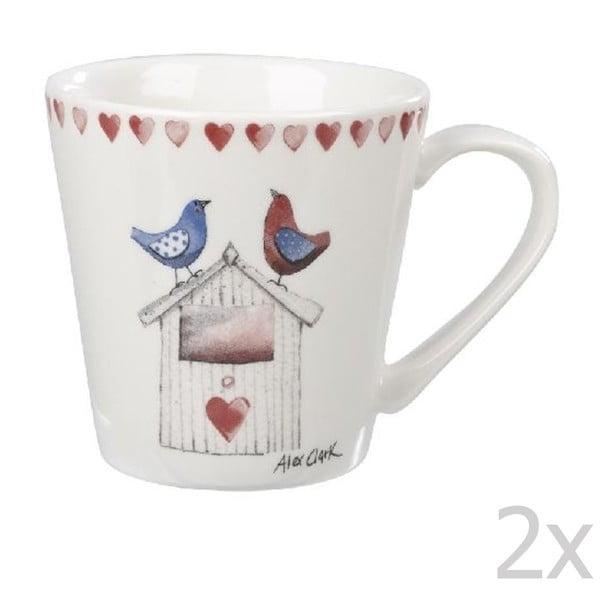 Sada 2 ks hrnčekov Lovebirds, 285 ml