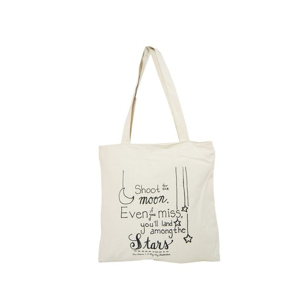 Biela plátenná taška O My Bag Quote