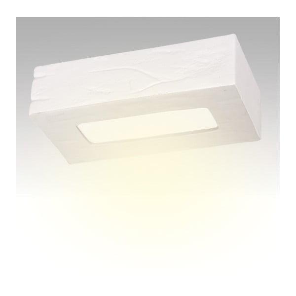 Stropné keramické svetlo Cegla, biele