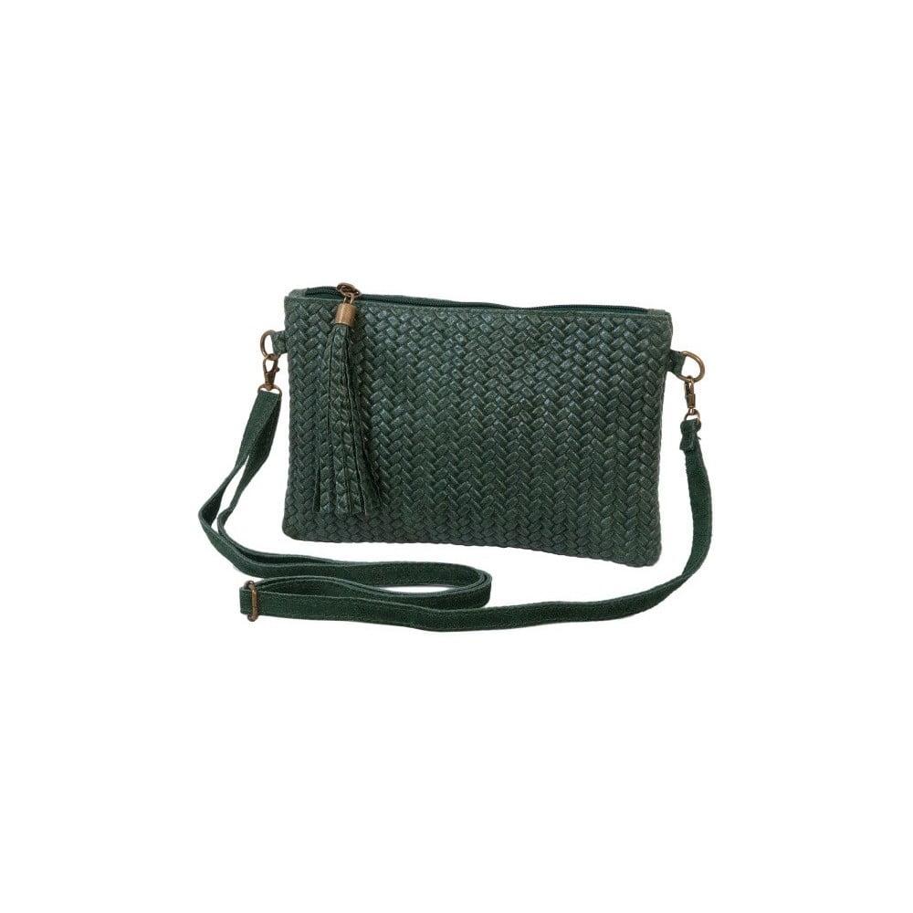 Zelená kabelka z pravej kože Andrea Cardone Michele 293667f7940