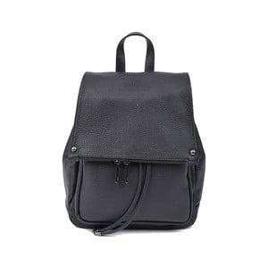 Čierny kožený dámsky batoh Roberta M Mussia