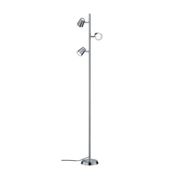 Sivá stojacia LED lampa Trio Narcos, výška 1,54 m