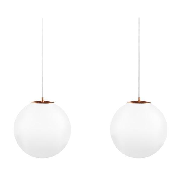 Dvojité svetlo Tsuki L Elementary opal matte/copper/white/white