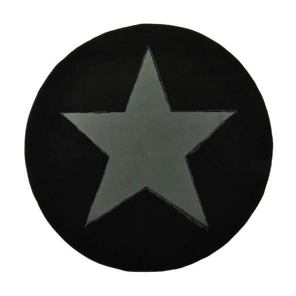 Koberec City & Mix - čierna plná hviezda, 140 cm