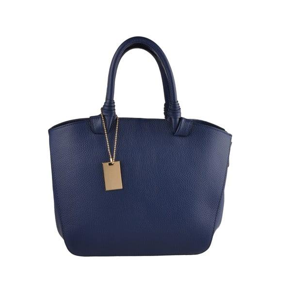 Kožená kabelka Emilio Masi Bristol, námornická modrá