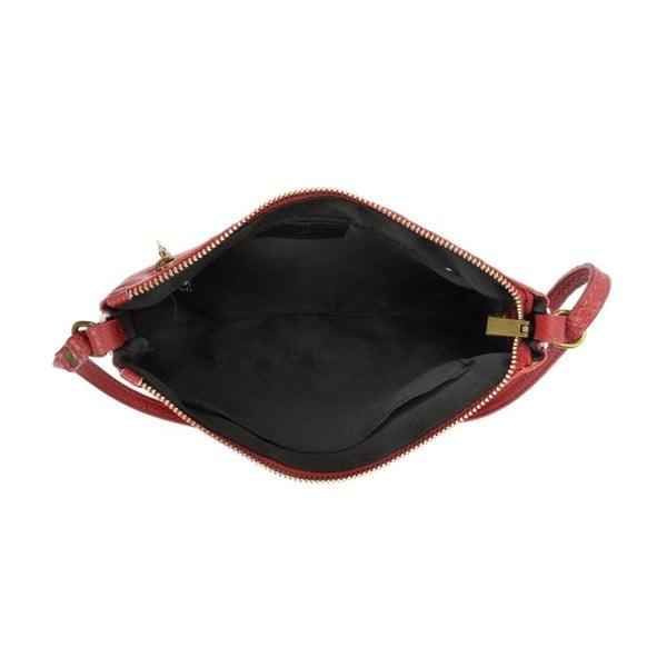 Červená kožená kabelka Carla Ferreri Buttera