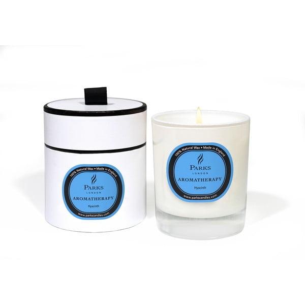 Sviečka s vôňou hyacintu Parks Candles London Aromatherapy, 50hodín horenia